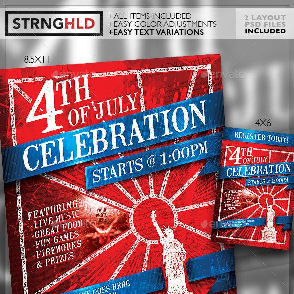 4th of July Event Flyer Template