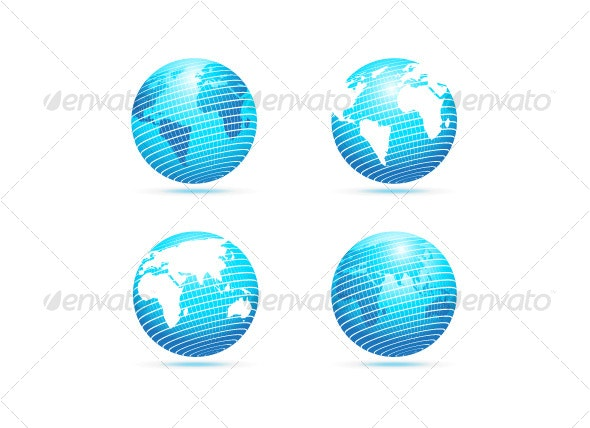 Vector The Globe - Objects Vectors