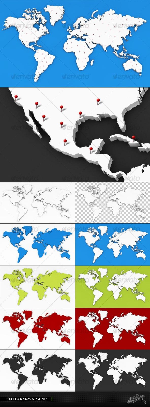 3D World Map - 3D Renders Graphics