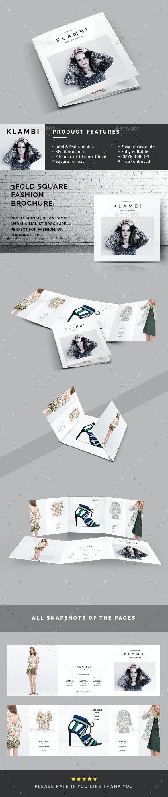 Square Tri-Fold Fashion Brochure - Catalogs Brochures