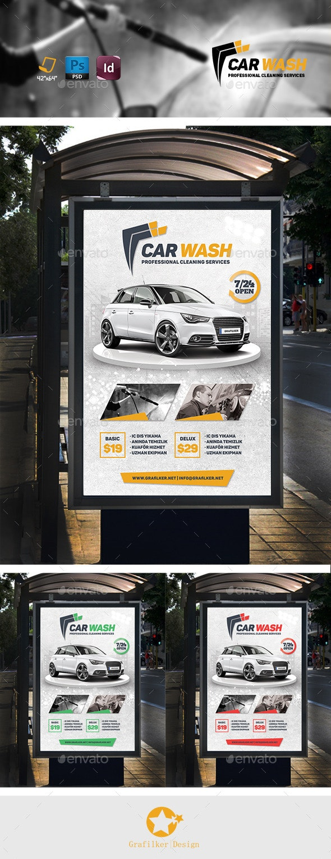 Car Wash Banner Templates - Signage Print Templates
