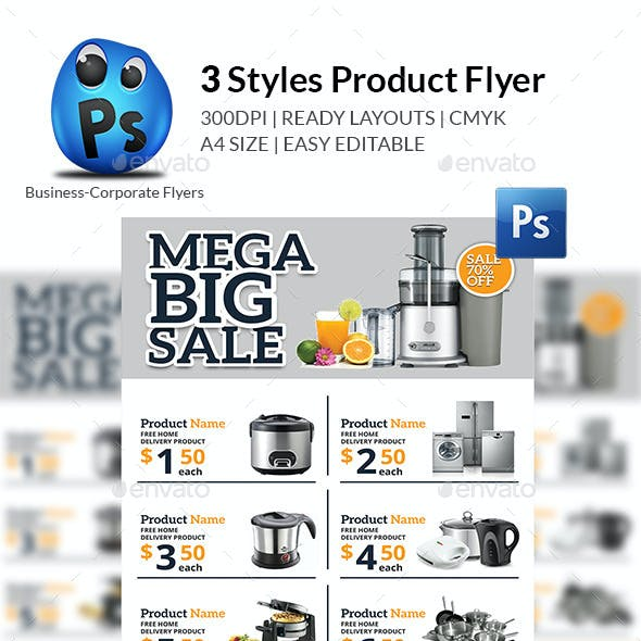 3 Styles Product Flyer Templates