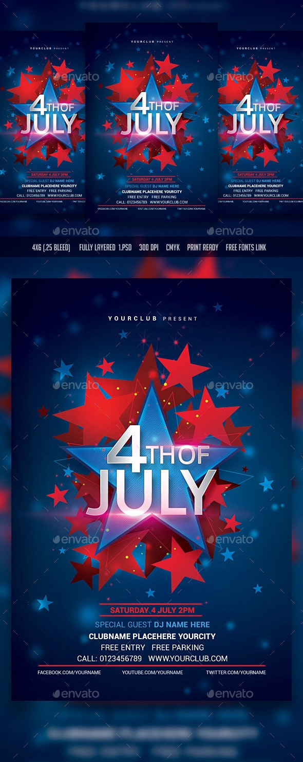 4th of July - Events Flyers