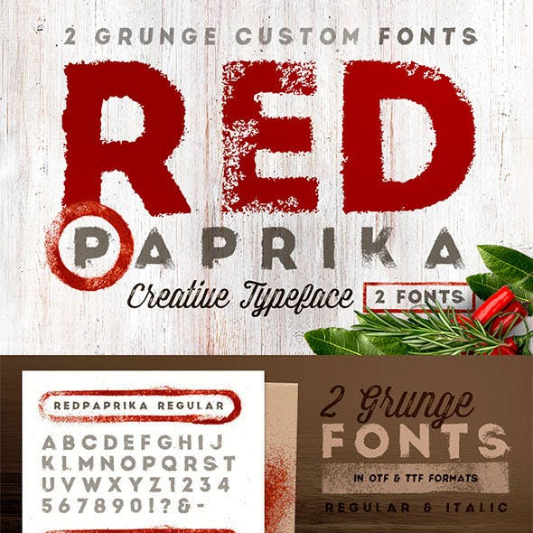 Red Paprika - Custom Fonts