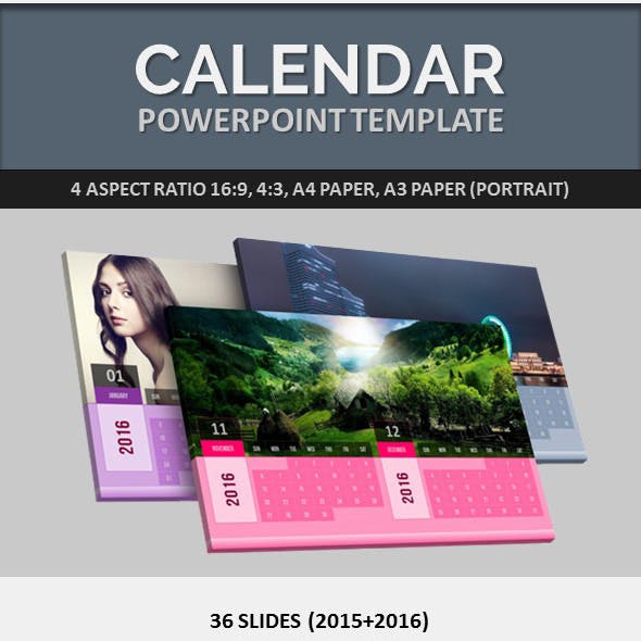 Calendar Powerpoint Templates From Graphicriver