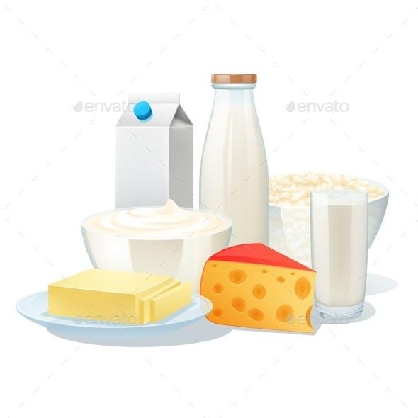 Milk Products Set