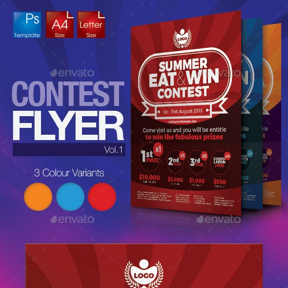 Simple Contest Flyer Vol.1