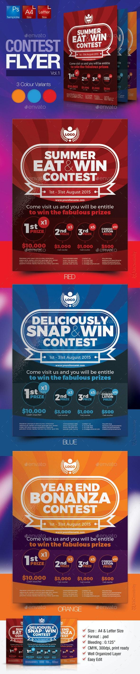 Simple Contest Flyer Vol.1 - Miscellaneous Events