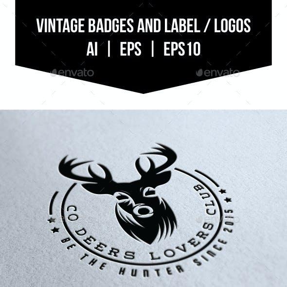 Vintage Badges and Labels / Logos