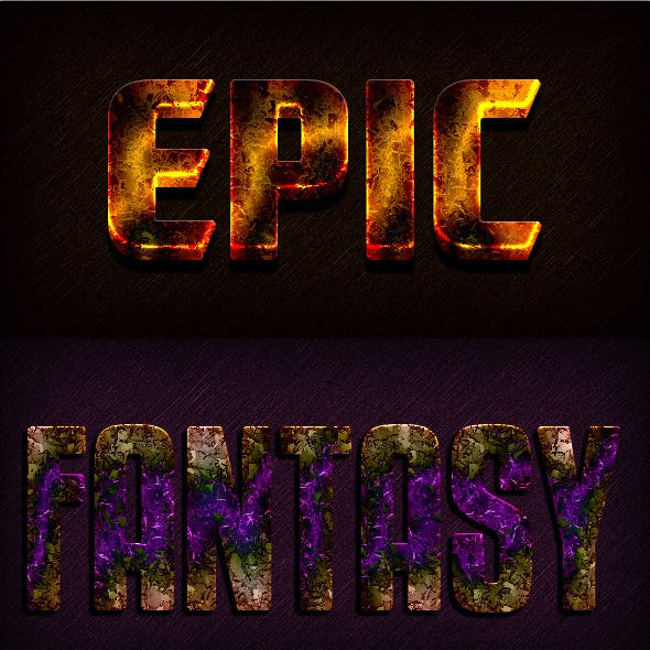 Photoshop Text Styles / Epic Gamer Vol.1