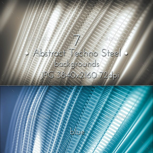 Abstract Techno Steel