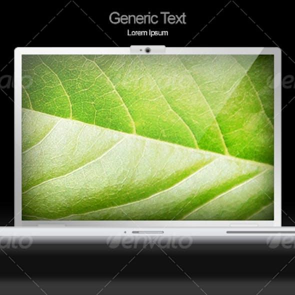 Slick Grey Aluminum Vector Laptop