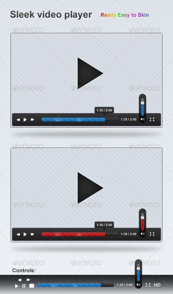 Sleek Video Player UI - Miscellaneous Web Elements