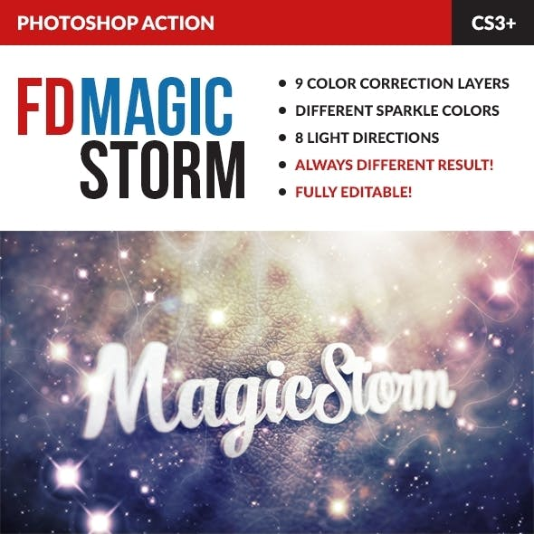 Magic Storm Photoshop Action