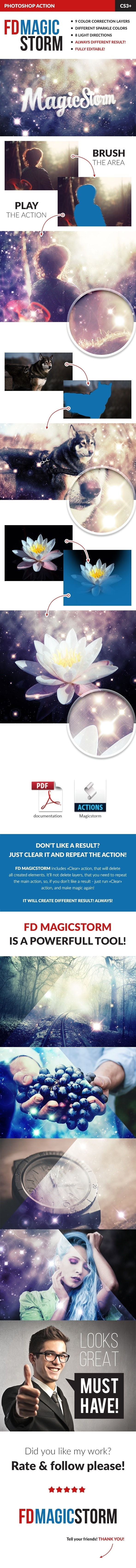 Magic Storm Photoshop Action - Photo Effects Actions