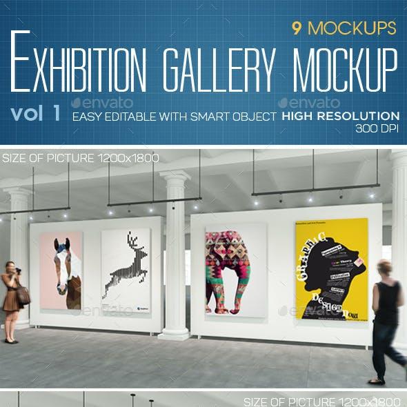 Exhibition Gallery Mockup Vol.1-Roman Columns