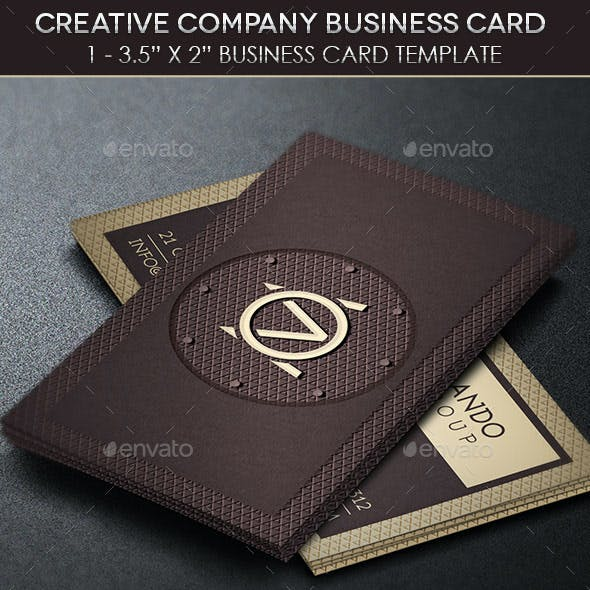 Creative Company Business Card Template