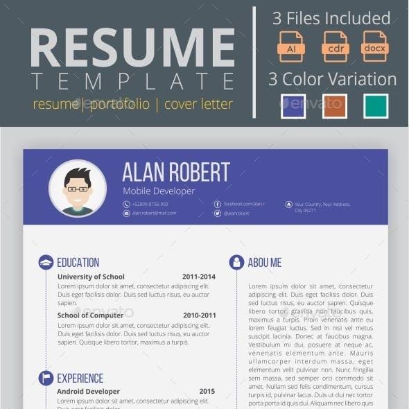 Flat & Clean Resume CV