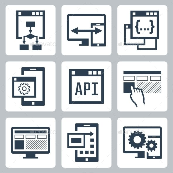 Application Programming Interface Icon Set