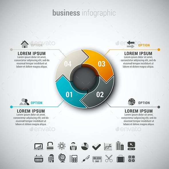 4 in 1 Business Infographics