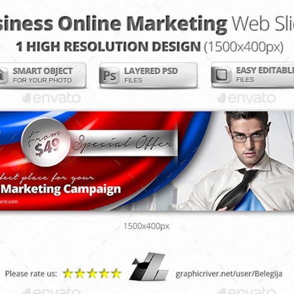 Business Online Marketing Web Sliders