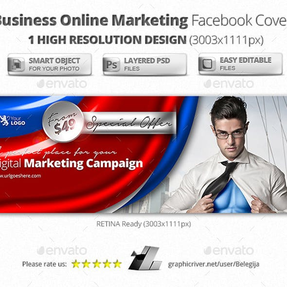 Business Online Marketing Facebook Covers