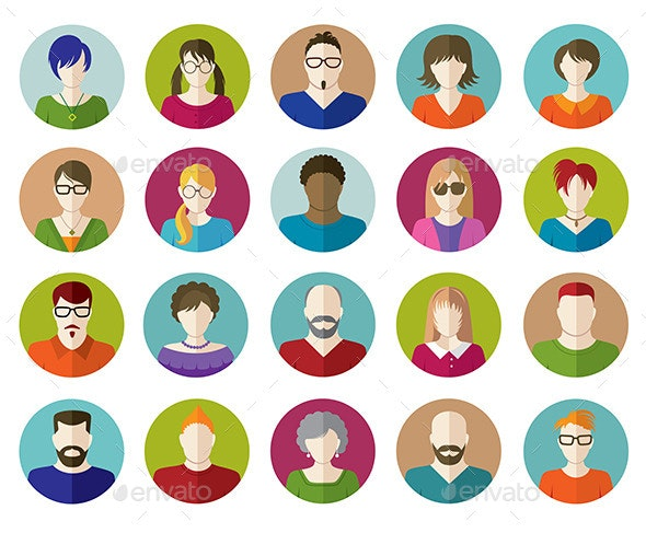 Set of People Flat Icons - People Characters