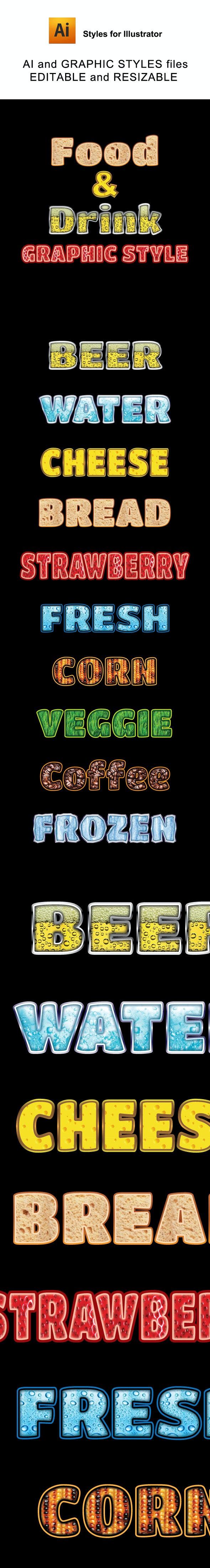 Food & Drink Graphic Styles - Styles Illustrator