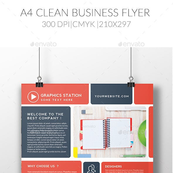 A4 Clean Business Flyer