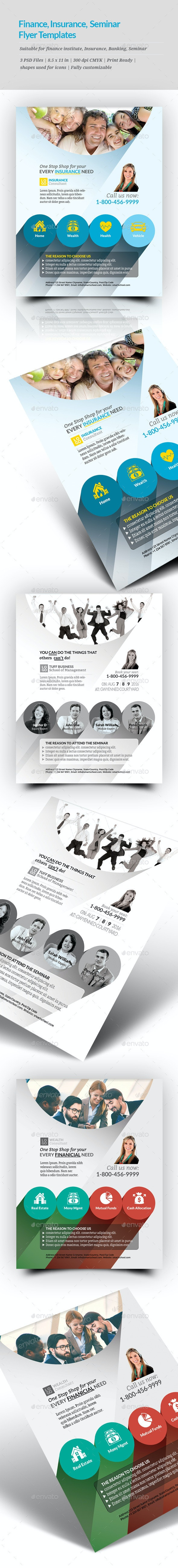 Finance, Insurance, Seminar Flyer Templates - Corporate Flyers