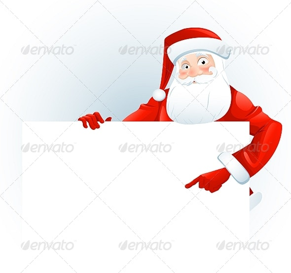 Santa with Paper - People Characters