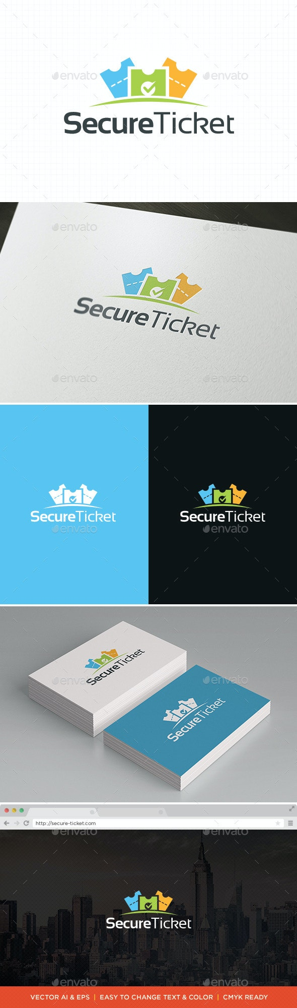 Ticket Logo Template - Symbols Logo Templates