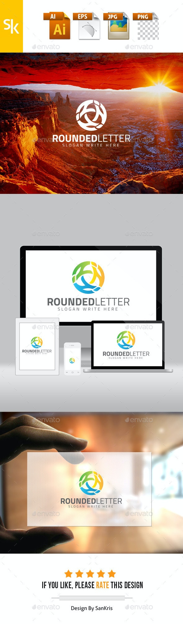 Rounded Letter Logo - Letters Logo Templates