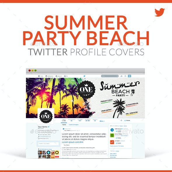 Twitter Profile Covers - Summer Beach Party