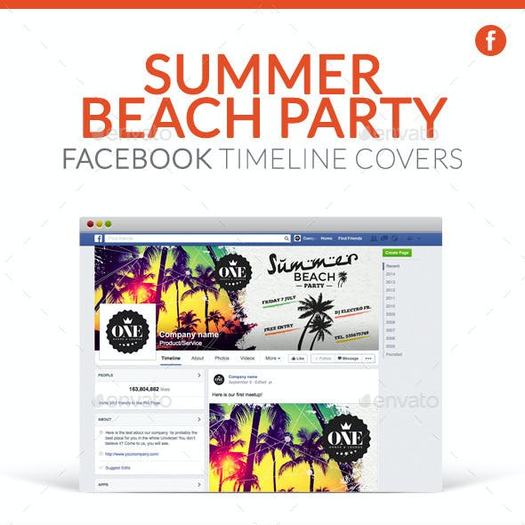 Facebook Timeline Covers - Summer Beach Party