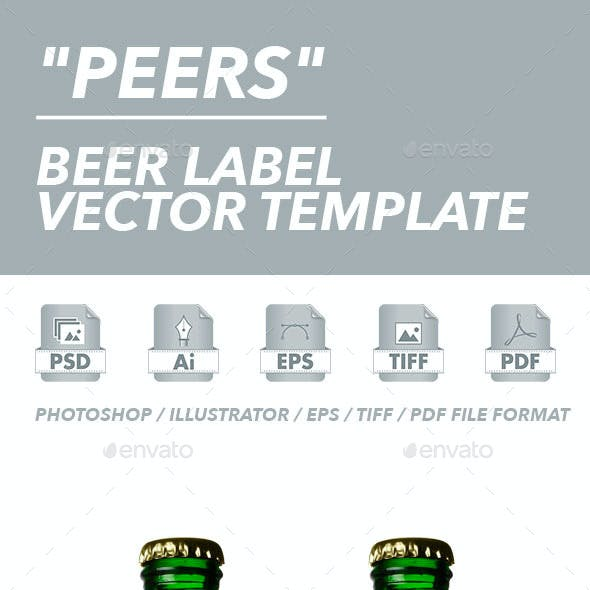 Beer Label Vector Template
