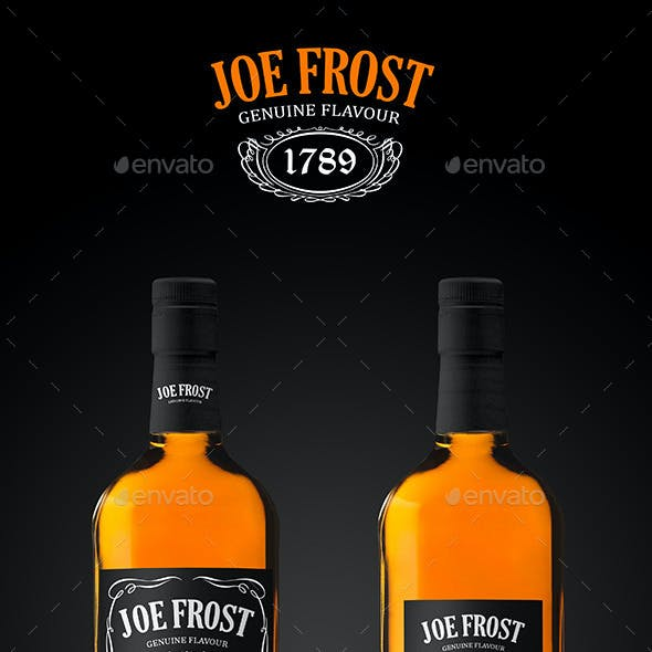 Premium Whiskey Bottle Mockup