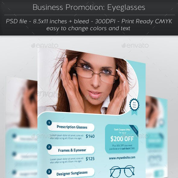 Business Promotion: Eyeglasses