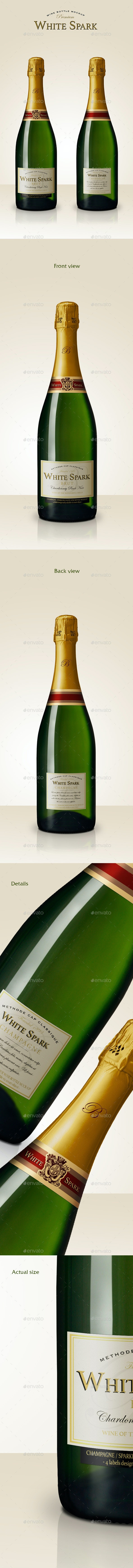 Premium Champagne Bottle Mockup - Food and Drink Packaging