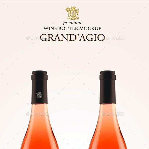 Premium Rosé Wine Mockup