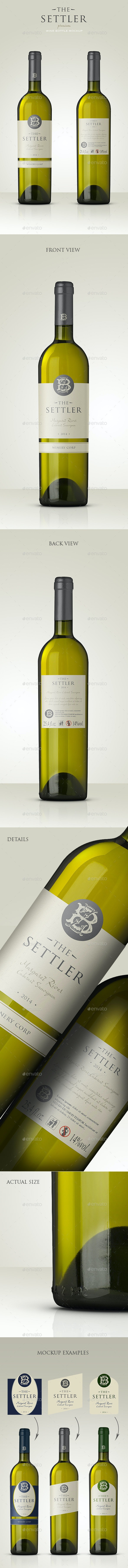 Premium White Wine Mockup - Food and Drink Packaging