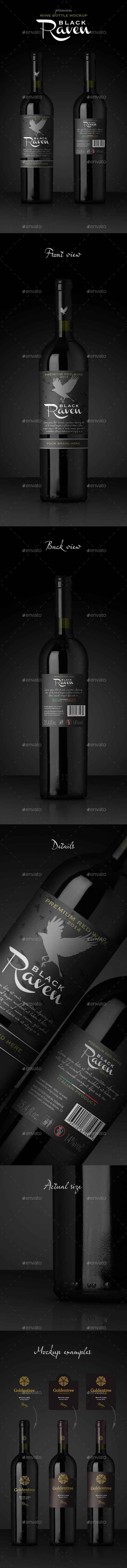 Premium Red Wine Mockup - Food and Drink Packaging