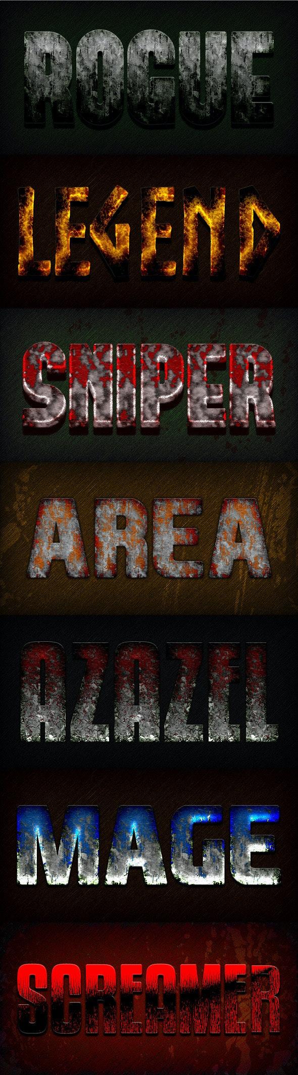 Photoshop Text Styles / Epic Gamer Vol.2 - Styles Photoshop