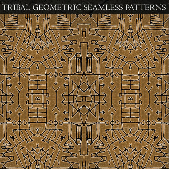 3 Tribal Geometric Seamless Patterns