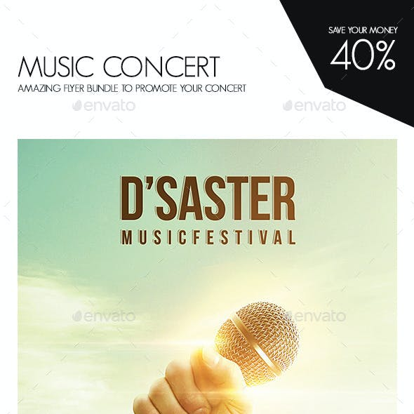 Music Concert Flyer Bundle