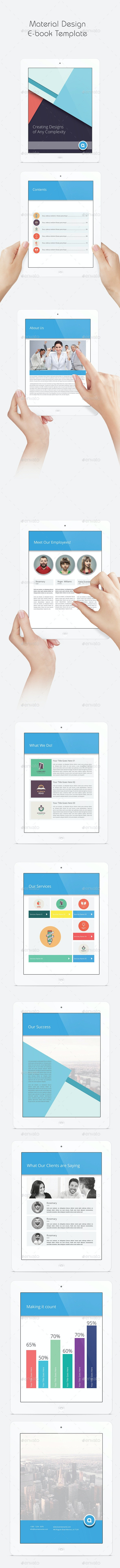 Material Design eBook Template - ePublishing