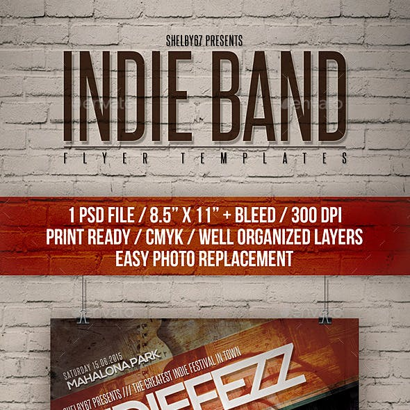 Indie Band Flyer Templates