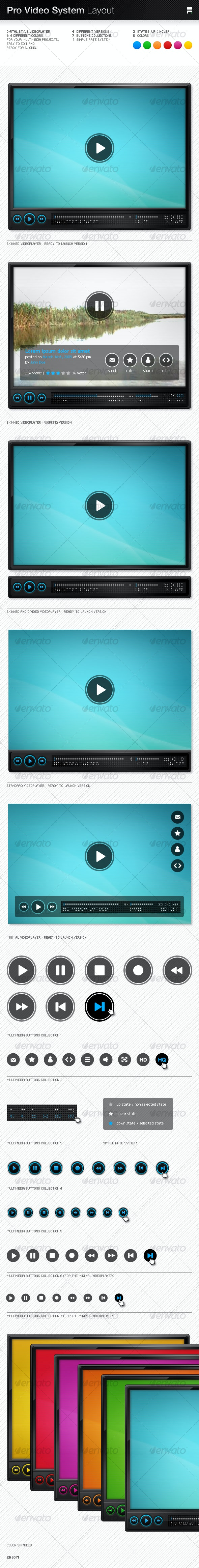 Pro Video System Layout - Miscellaneous Web Elements