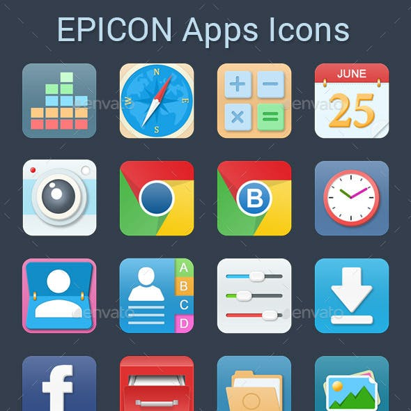 Epicon Apps Icons