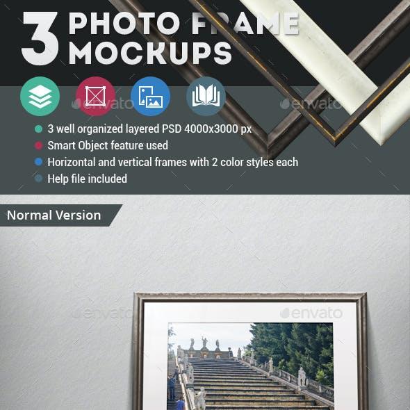 3 Photo Frame Mockups